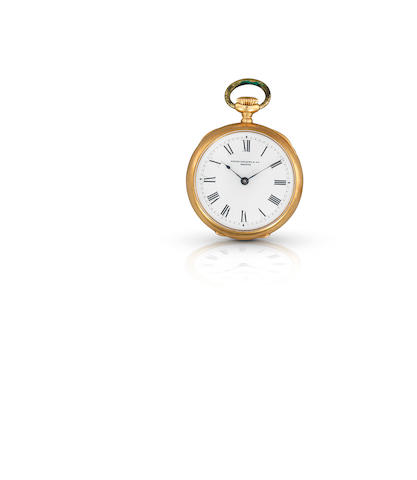 Patek Philippe & Co. A fine and rare 18ct gold keyless wind open face pocket watchCase No.201046, Movement No.79320, Circa 1900