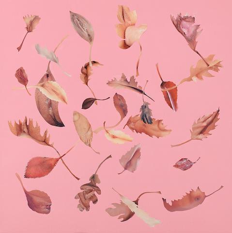 Jonathan Yeo (British, born 1970) Leaf Study (Pink)