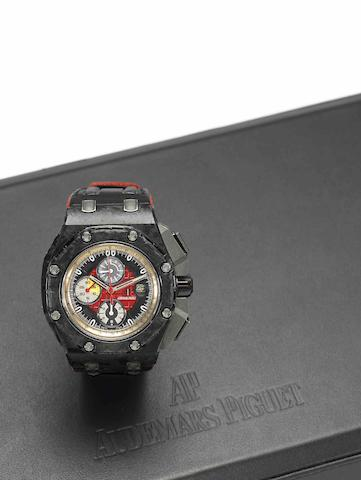 Audemars Piguet. A very fine and rare limited edition carbon fibre and titanium calendar chronograph automatic wristwatch Royal Oak Offshore Grand Prix, Ref:26290, Case No.G99644, Movement No.779668, Sold in January 2011