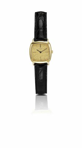 Piaget. A fine 18ct gold lady's manual wind wristwatchCase No.9233, Circa 1980