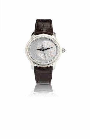 Audemars Piguet. A stainless steel and diamond set automatic lady's wristwatchMillenary, Ref:77301ST, Case No.F88399, Movement No.666860, Circa 2009