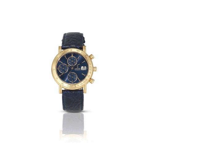Concord. A fine 18ct gold calendar chronograph automatic wristwatchRef:50-A7-210/1, Case No.948344, Movement No.2892-2, Circa 1990