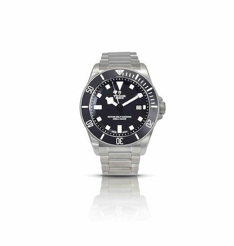 Tudor. A fine titanium calendar diver's automatic bracelet watchPelagos, Ref:25500TN, Case No.J643866, Recent