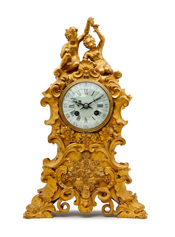 A fine 19th century French figural ormolu mantel clock Anonymous