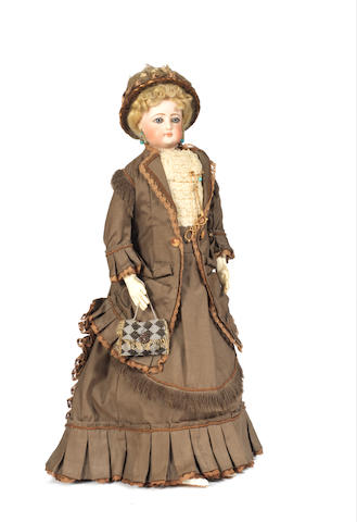 Francois Gaultier shoulder head fashion doll, circa 1870