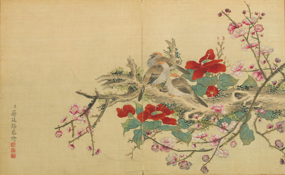 Attributed to Jiang Tingxi (1669-1732) Birds and Flowers