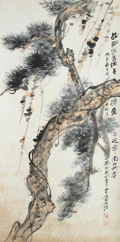 Zhang Daqian (1899-1983) Pine
