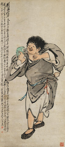 Wang Zhen (1867-1938) Amusing with the Toad