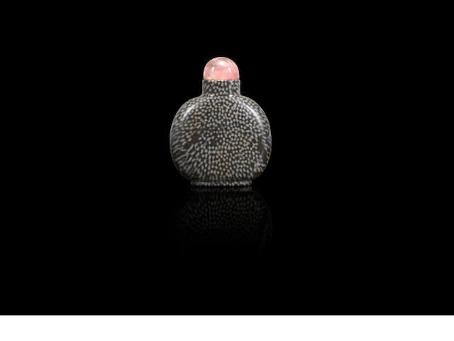 A limestone snuff bottle Qing dynasty