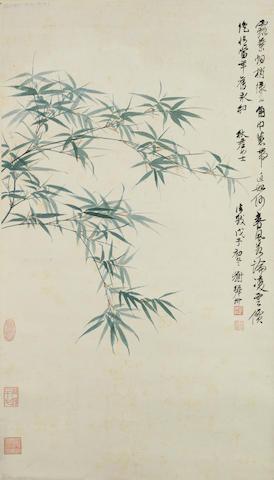 Xie Zhiliu (1910-1997) Green Bamboo
