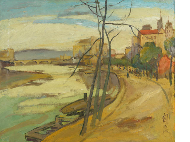 Guan Liang (1900-1986) Scenery of Germany