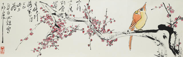 Ding Yanyong (1902-1978) Bird and Plum Flowers