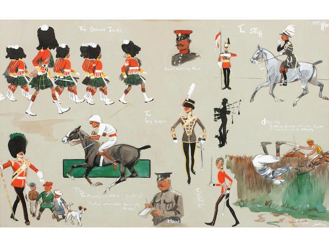 Charlie Johnson Payne, 'Snaffles' (British, 1884-1967) Life In A Garrison Town