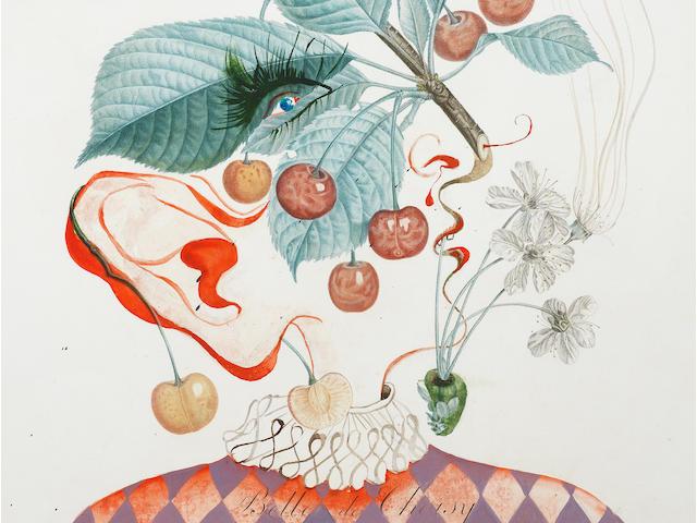 Salvador Dalí (1904-1989) Cerises Pierrot (Pierrot Cherries)