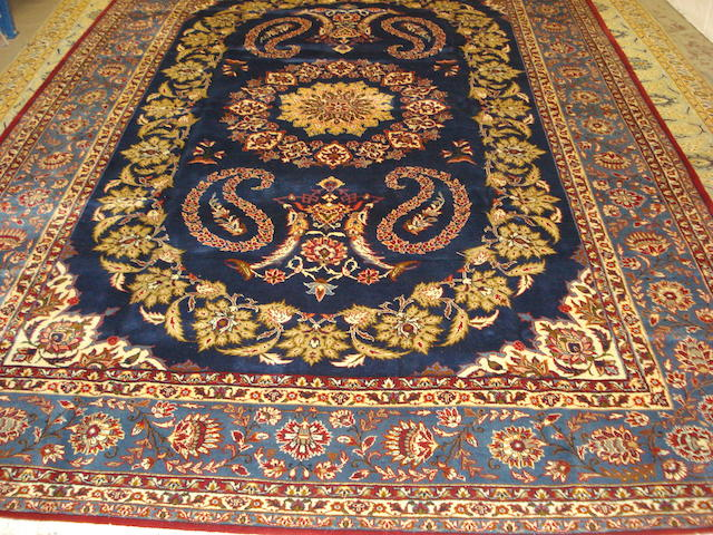 An Isfahan carpet, Central Persia, 378cm x 257cm