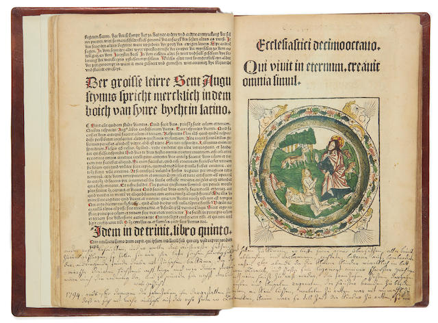 COLOGNE CHRONICLES. Die Cronica van der hilliger Stat van Coellen, COLOURED IN A CONTEMPORARY HAND, 1499