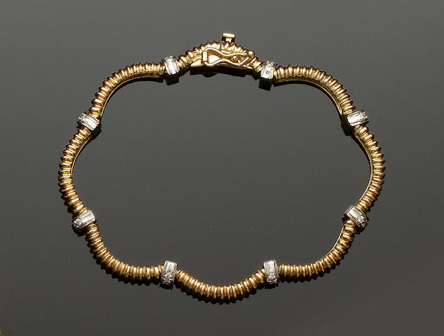 An 18ct gold and diamond bracelet