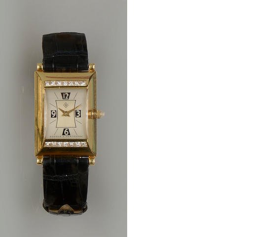 Boodle & Dunthorne: An 18ct gold and diamond set lady's Greenwich wristwatch