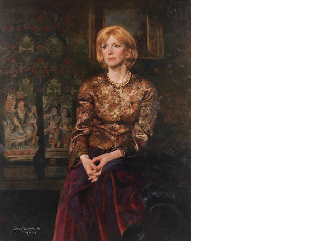 Chen Yanning (b.1945) Portrait of the English Actress Jane Asher