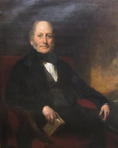 British School, (19th century) Half length portrait of a seated gentleman