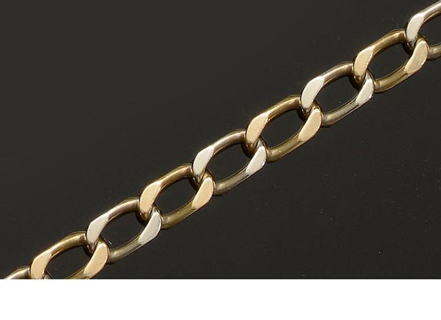 A precious metal curb-link bracelet