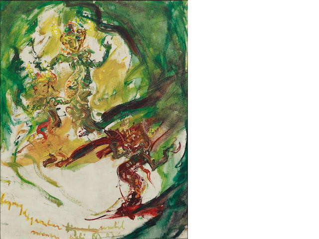 Affandi (Indonesian, 1907-1990) Three Legong Dancers
