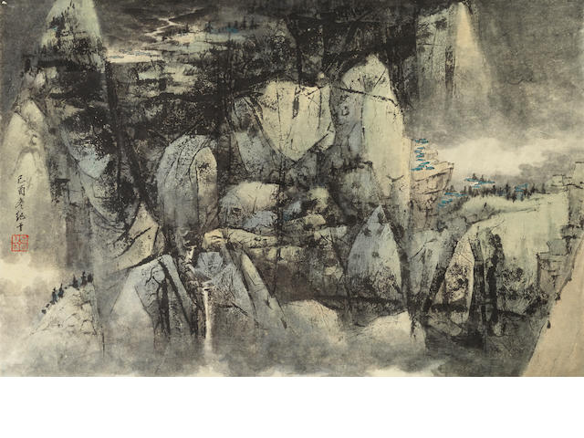 Wang Jiqian (C.C. Wang, 1907-2003) Blue Mountains