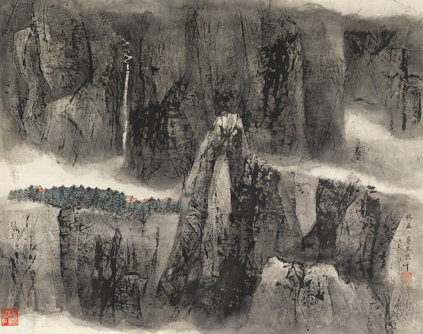 Wang Jiqian (C.C. Wang, 1907-2003) Mountain and Village