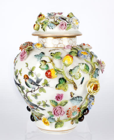 A late 19th Century Continental porcelain vase