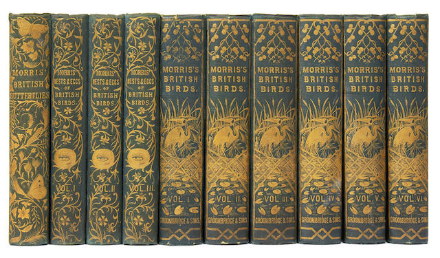 MORRIS (FRANCIS ORPEN) A History of British Birds, 6 vol., 1864; and Butterflies; Nests and Eggs, 3 vol. (10)