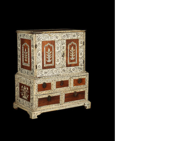 Miniature Furniture: A late 18th century Vizagapatam table cabinet