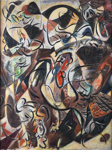 André  Masson (French, 1896-1987) Jeune fille dans une basse-cour ou le Dindon