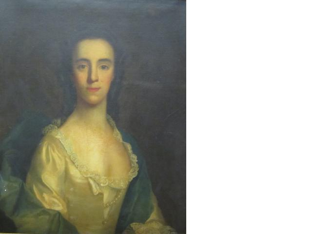 British School, 18th Century Portrait of a lady