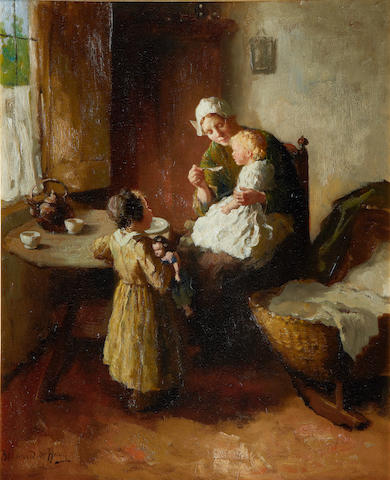 Bernard de Hoog (Dutch, 1867-1943) Breakfast time