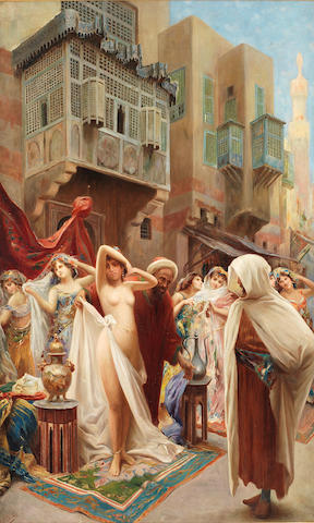 Fabio Fabbi (Italian, 1861-1946) An Eastern slave market