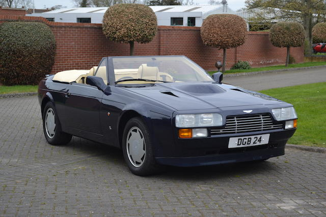 The first of only five made,1989 Aston Martin V8 Zagato Vantage Volante  Chassis no. 30041 Engine no. V/580/0041/X
