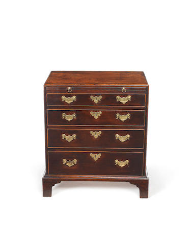 A small George II mahogany chest in the manner of Giles Grendey