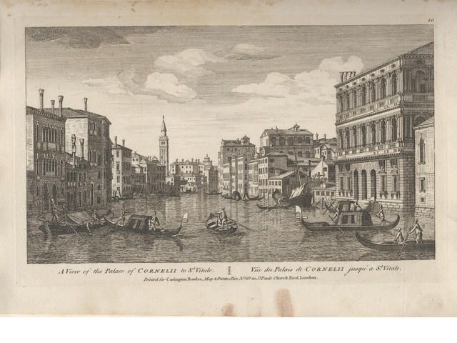 ITALY Album of engraved views of Italy, [mostly eighteenth century]