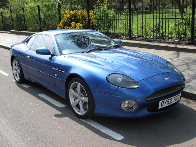 The ex-works demonstrator,2002 Aston Martin DB7 V12 Vantage GT Coupe  Chassis no. SCFAB12803K303463 Engine no. AM2/03563