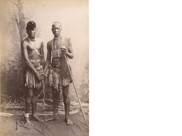 SINGAPORE, BURMA and SOUTH AFRICA An album of upwards of 80 views and portraits, [c.1885-1890]