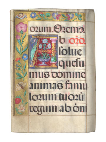 ILLUMINATED MANUSCRIPT MISSAL, Spain, late 16/early 17th century]