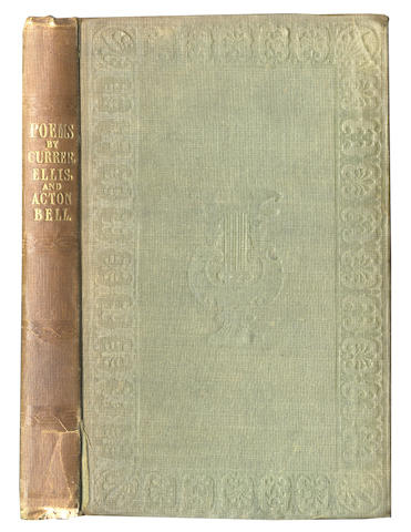 BRONTE (CHARLOTTE, EMILY and ANNE)] Poems by Currer, Ellis and Acton Bell, first edition, second issue, 1846 [but 1848]