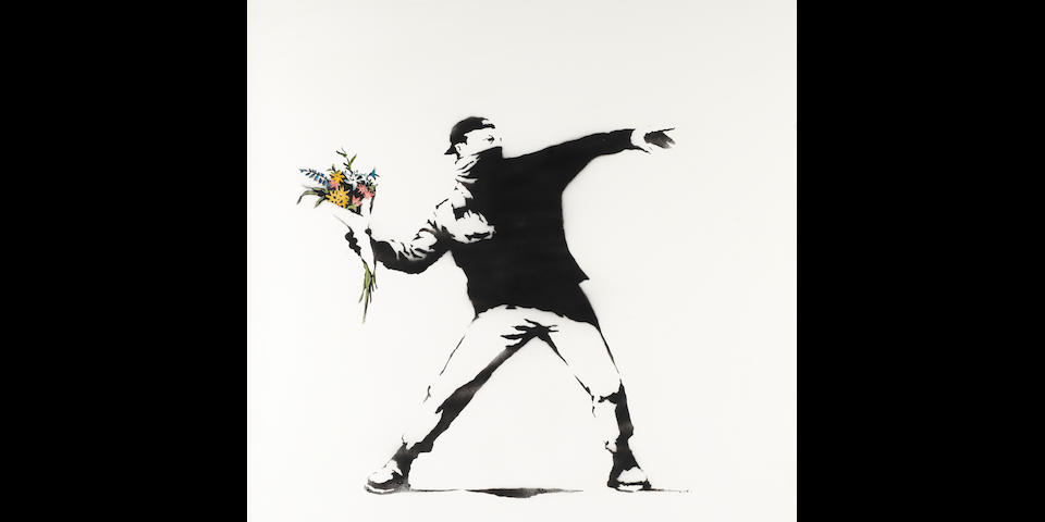 Banksy (b. 1975) Love is in the Air