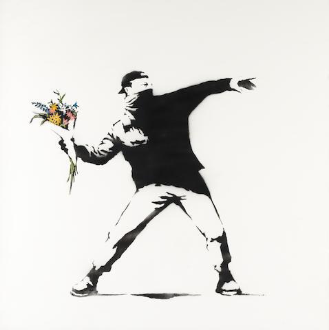 Banksy (b. 1975) Love is in the Air