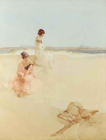 Sir William Russell Flint R.A., P.R.W.S. (British, 1880-1969) Models resting