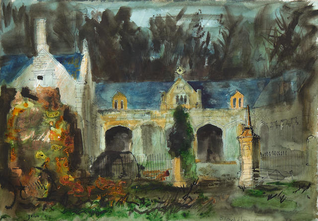 John Piper CH (British, 1903-1992) Stables, Bloxholme, Lincolnshire