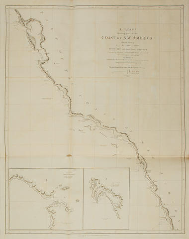 VANCOUVER (GEORGE) A Voyage of Discovery to the North Pacific Ocean, and Round the World, 4 vol. (including Atlas), 1798