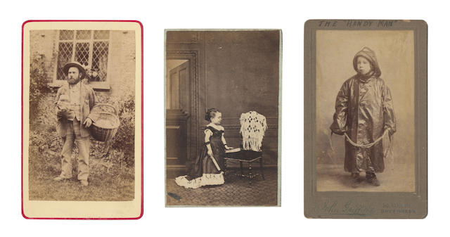 CARTES-DE-VISITE A collection of upwards of 250 carte-de-visite portriats from various photographers and studios, 1860s and later; 1860s and later; with 17 cabinet cards, and an Edwardian album of carte-de-visite and cabinet cards (quantity)
