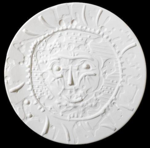 Pablo Picasso (1881-1973) Visage de faune tourmenté 42.5cm (16 3/4in) diameter