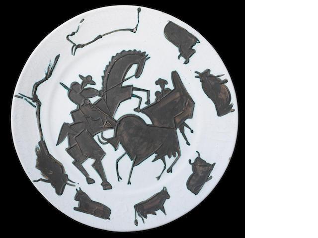 Pablo Picasso (1881-1973) Corrida 43cm (16 15/16in) diameter